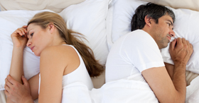 Do you and your wife only sleep in bed?